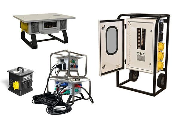 portable power distribution carts and boxes